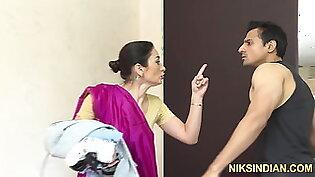 The hot maid Kaanta Bai caught stealing and ass-fucked hard