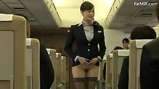 Asian japanese mature airline stewardess&#39s nude service