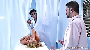 Nerdy doctor plans to give Cherie a healing with his dick