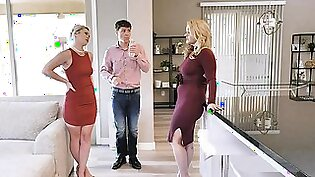 BadMilfs - Step Daugther Having Threesome With Mom