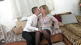 Taboo home sex with real mature mother mirka