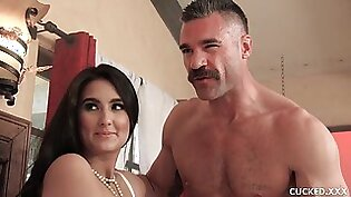 Eliza Ibarra is spreading up wide for her married lover and his rock hard meat stick