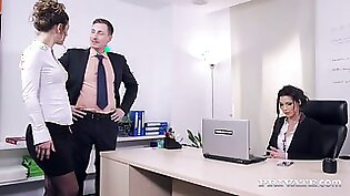 Julia Roca gets her vagina fucked in the office