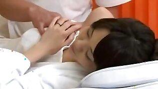 Oil Massage Daughter and Mama-three