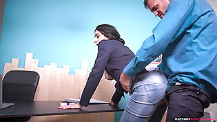 Slutty Manager Eloa Lombard's Butthole DESTROYED by Ian Scott