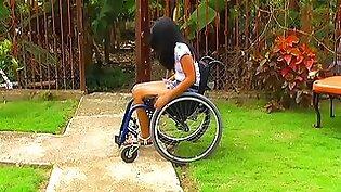 young Paraplegic girl feet