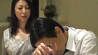 hot japonese wife have a affair with boss husband
