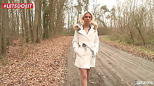LETSDOEIT - French Babe Used and Abused by Two Mature Guys