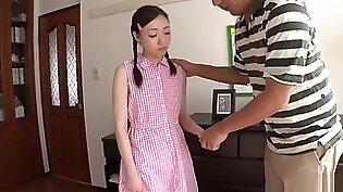 Awesome Japanese young harlot Mao Sena got cumshot in her throat