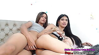 Hot Shemale Couple Fucking on Webcam Part 1